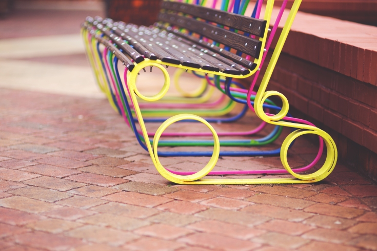 bench-colorful-colourful-lodz